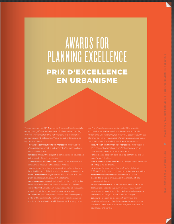 Awards for Planning Excellence Recipients  CIP