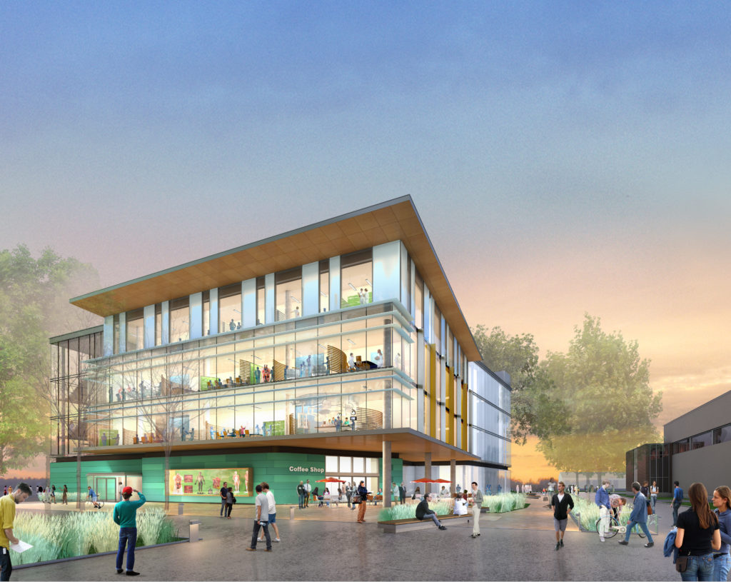 Rendering of the future BCIT Health Sciences Centre for Advanced Simulation by Stantec