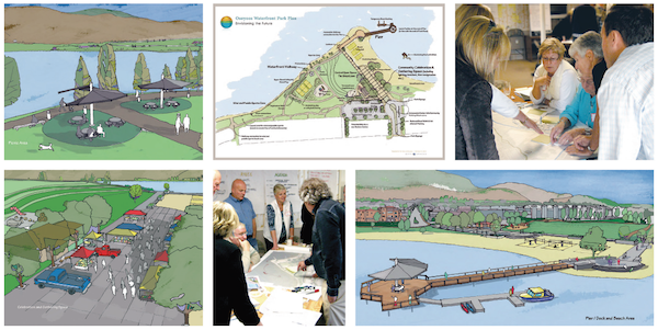 Osoyoos Waterfront Gyro Park Plan with Charrette