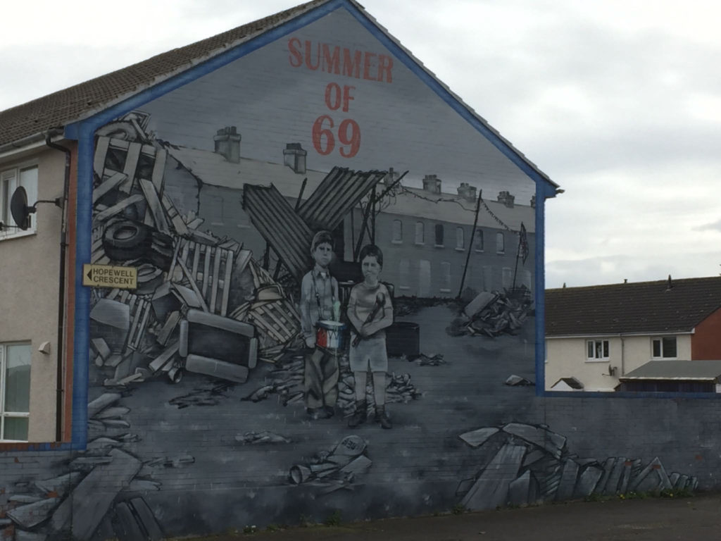 """Murals found on public housing in Belfast recognize and remember the tragedies of """"The Troubles"""""""